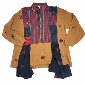 Donna Jessica lagenlook patchwork top tunic sweater.
